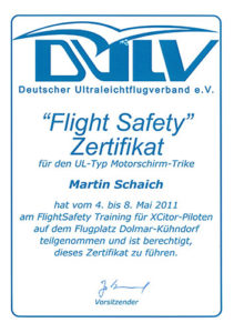 Flight Safety Zertifikat 2011